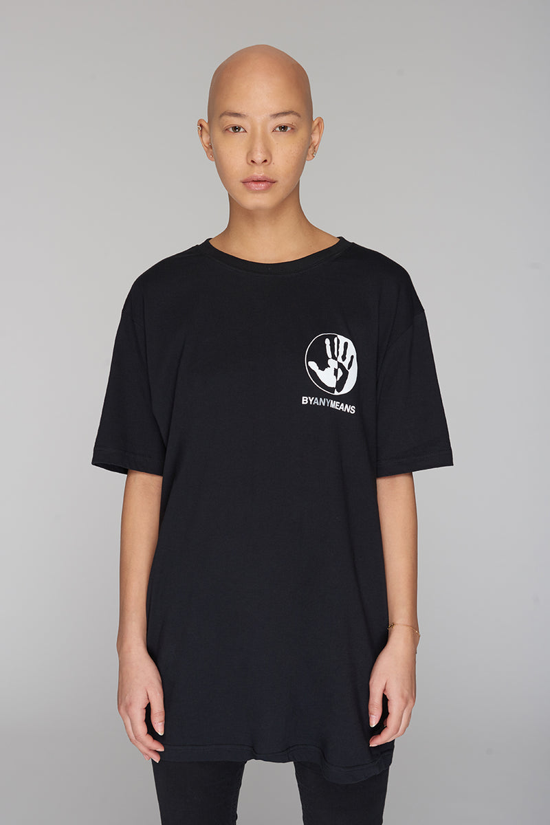 Long Clothing By Any Means Logo Blk T