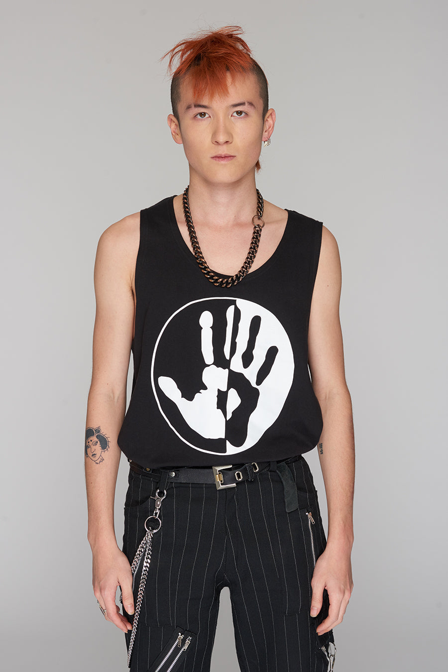 Long Clothing By Any Means Logo Blk Vest 2