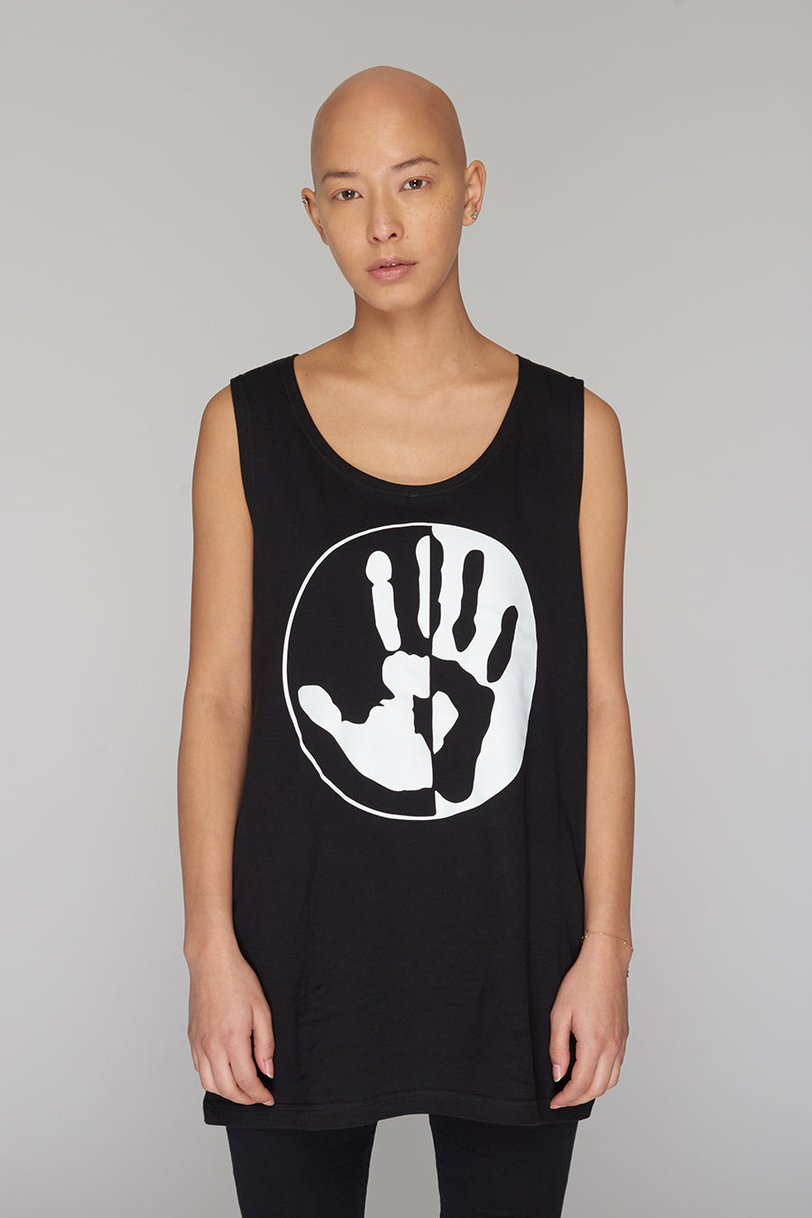 Long Clothing By Any Means Logo Blk Vest 3