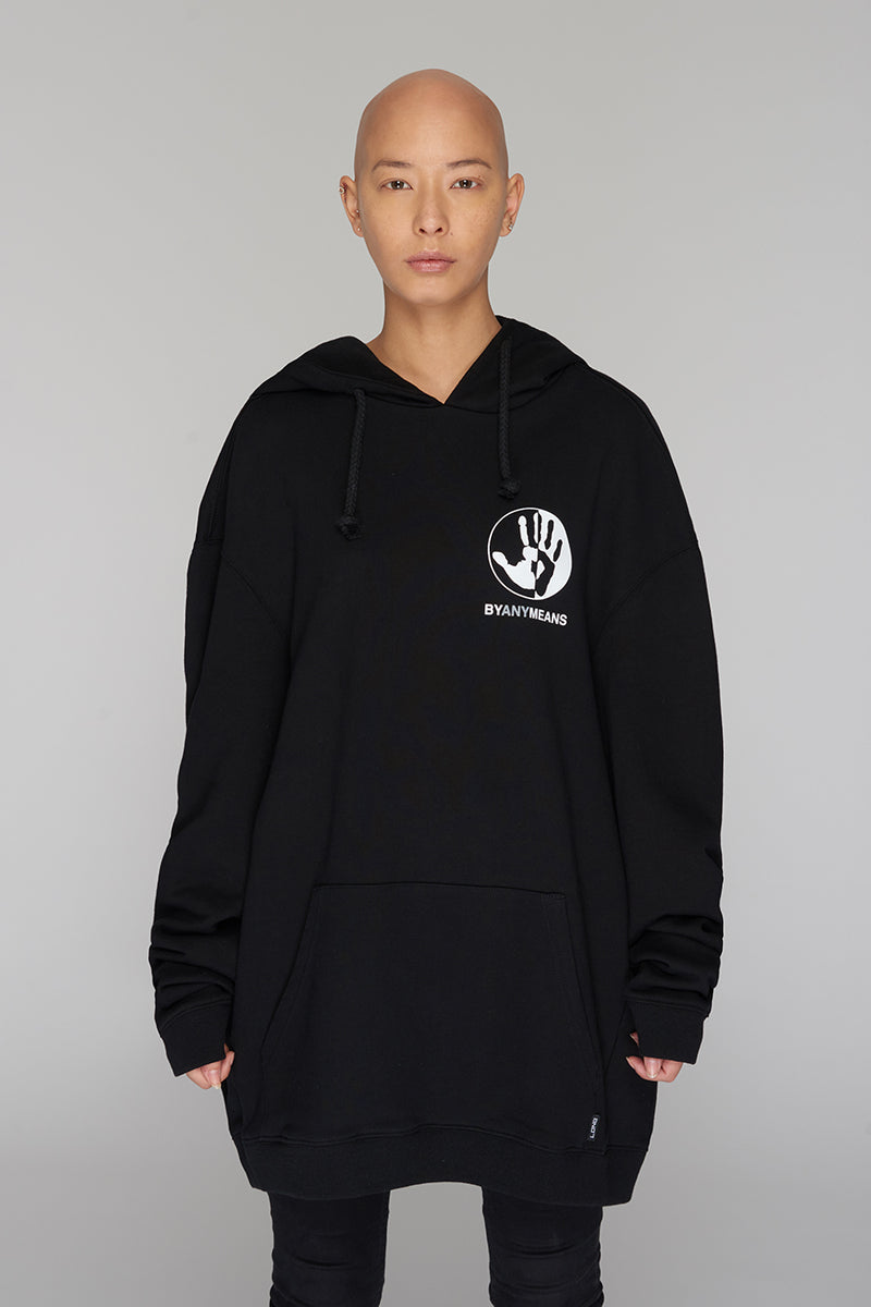 Long Clothing By Any Means Logo Hoody