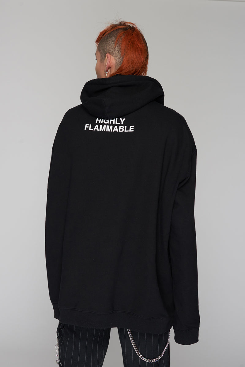 Long Clothing Highly Flammable Hoody 3