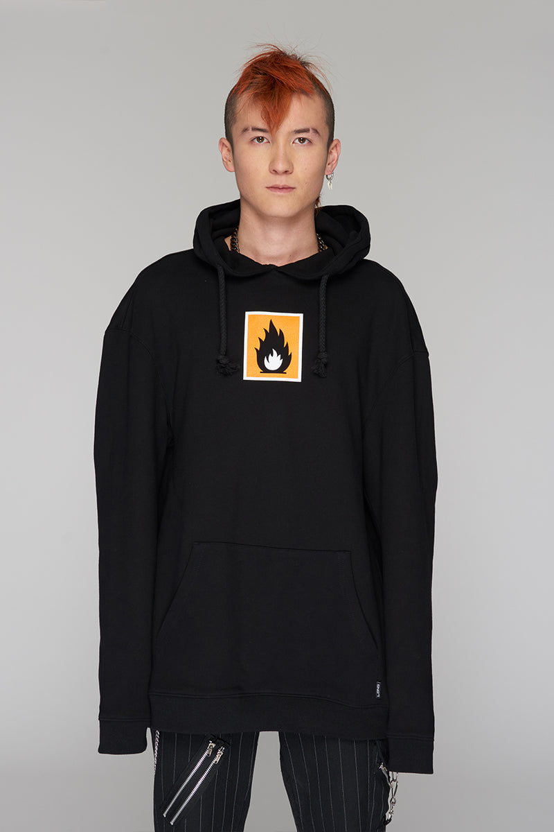 Long Clothing Highly Flammable Hoody