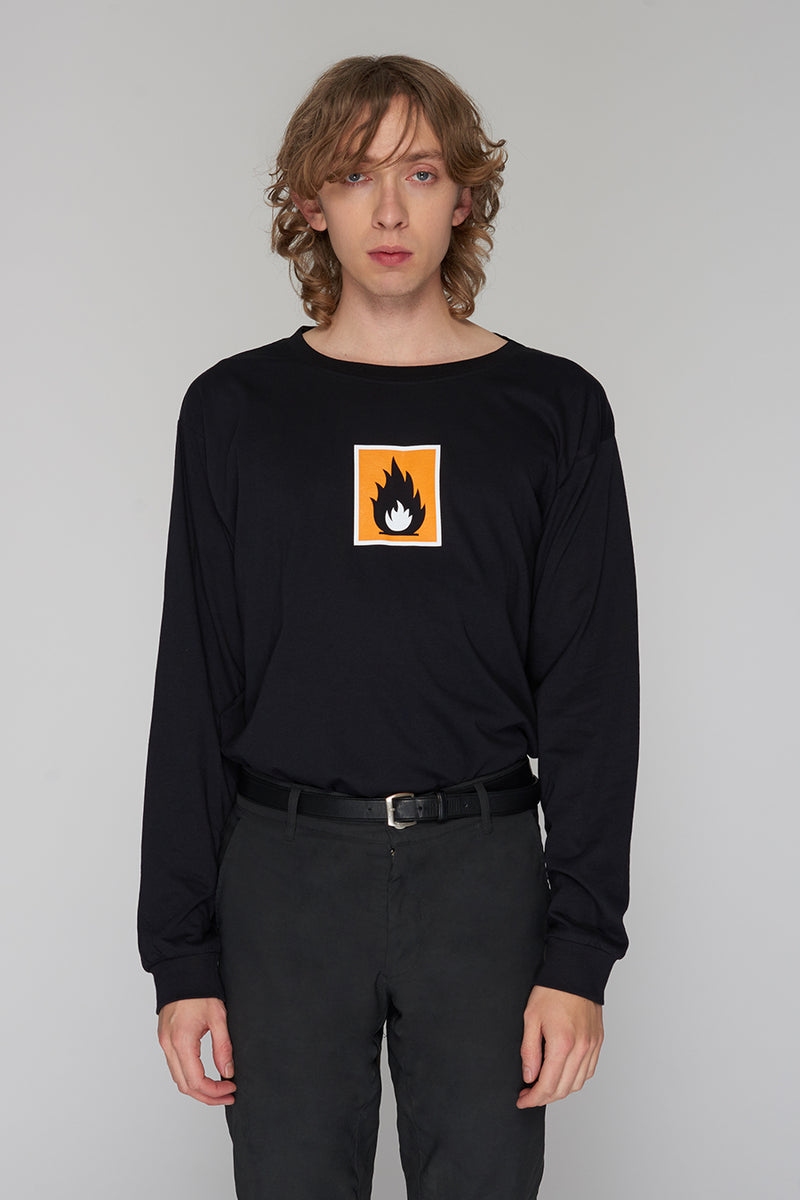 Long Clothing Highly Flammable Long Sleeve Black 2