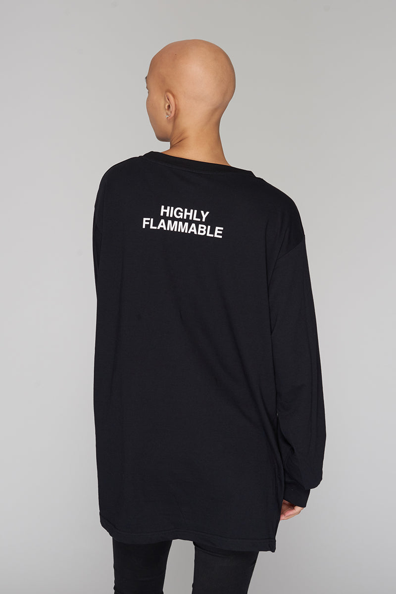 Long Clothing Highly Flammable Long Sleeve Black 3