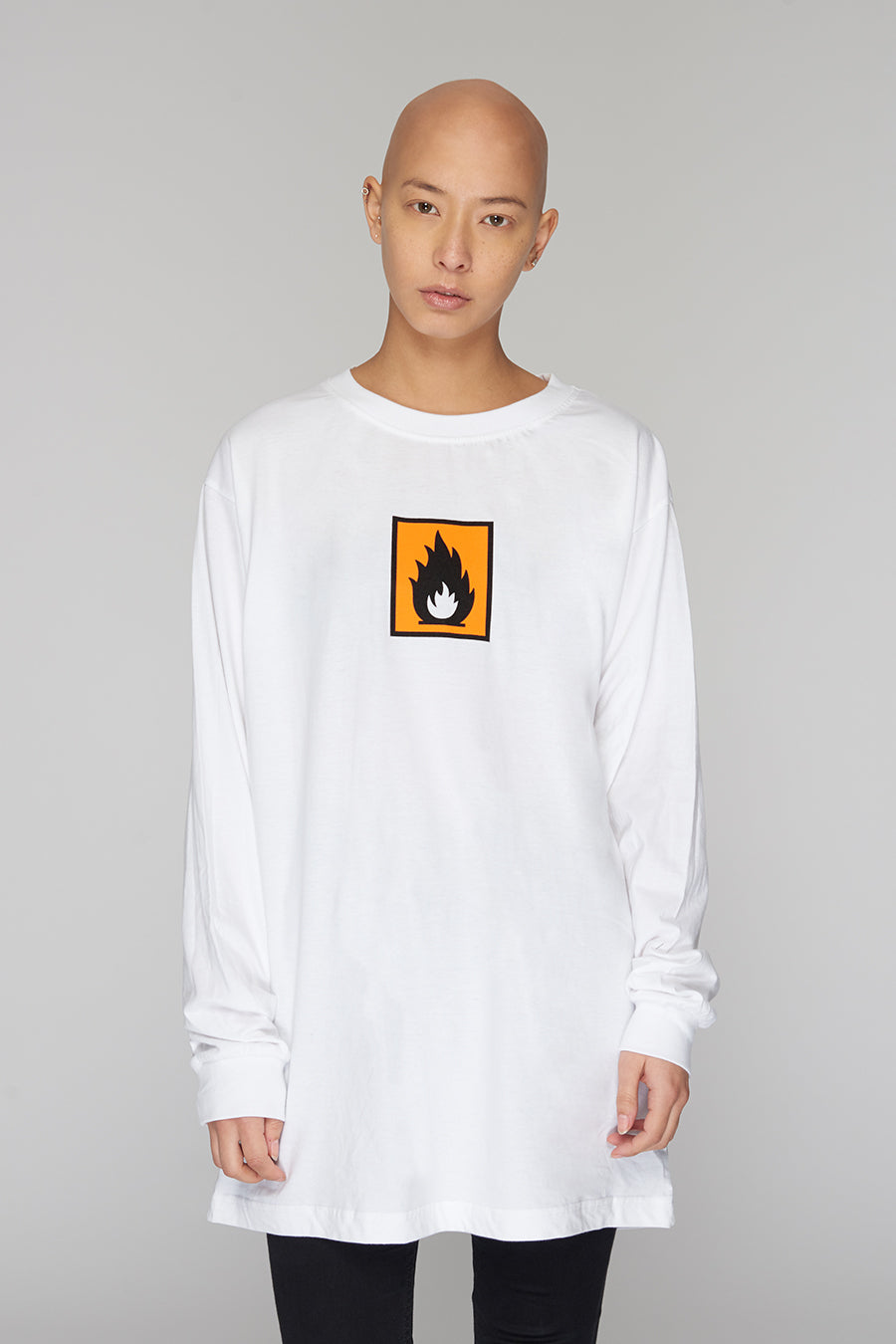 Long Clothing Highly Flammable Long Sleeve White 2