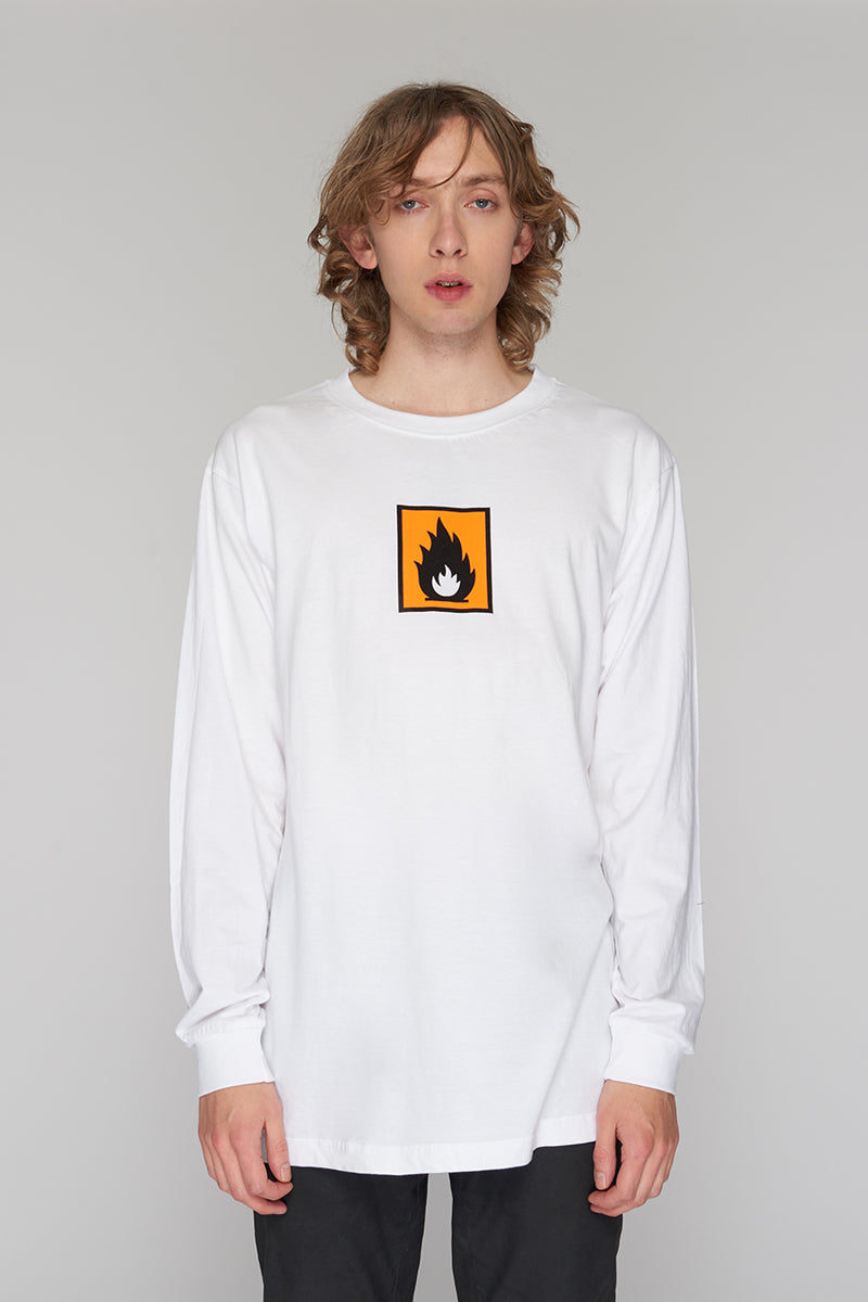 Long Clothing Highly Flammable Long Sleeve White