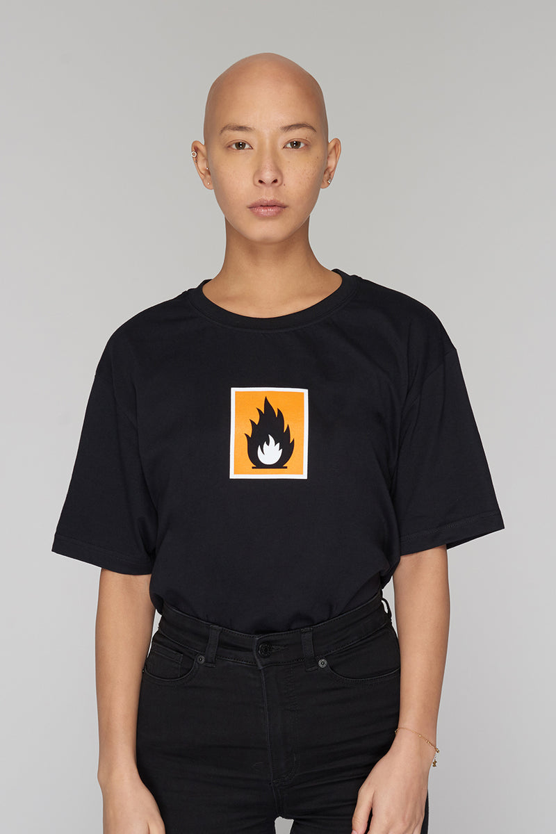 Long Clothing Highly Flammable T Black 2
