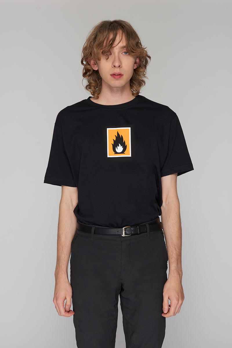 Long Clothing Highly Flammable T Black 3