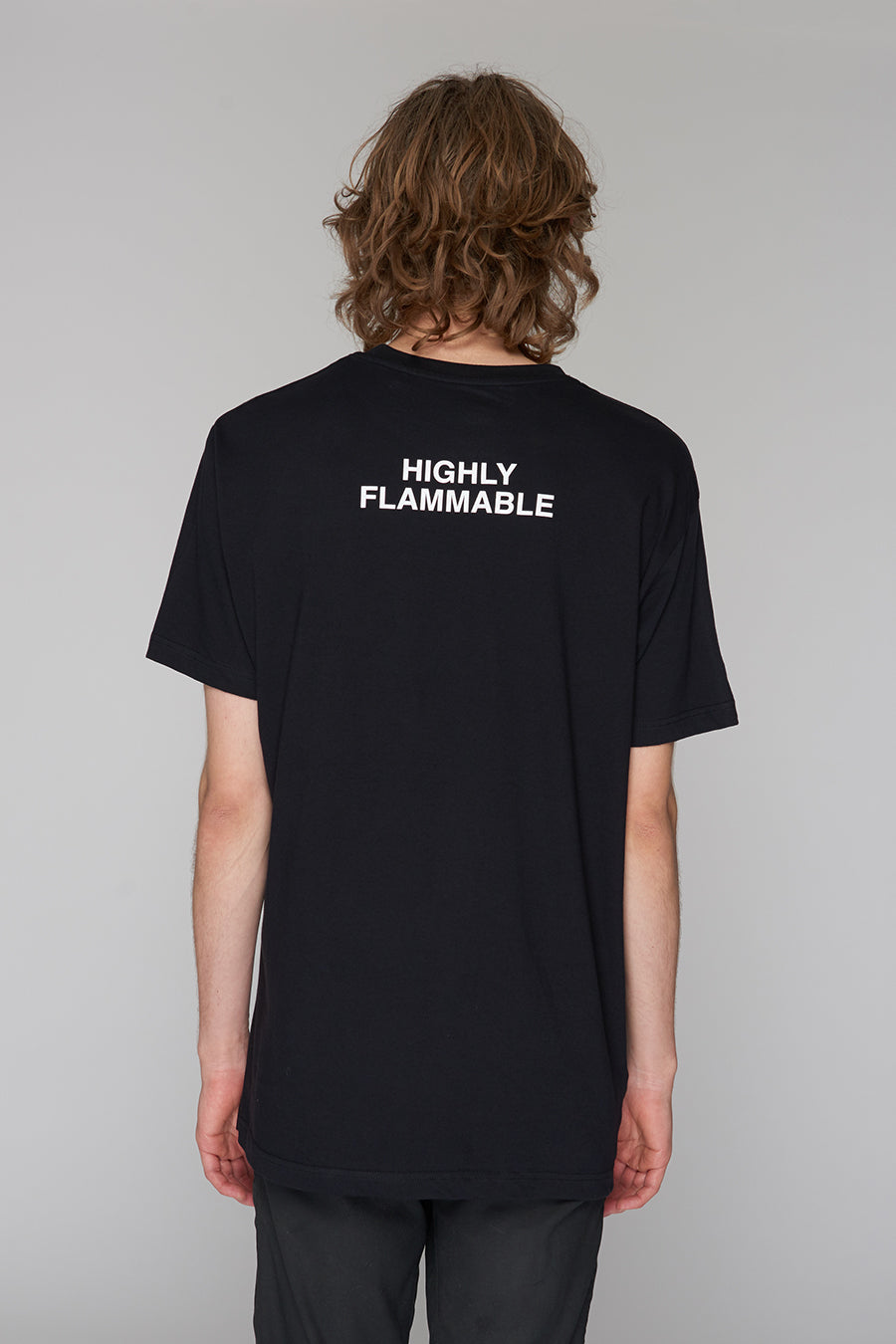 Long Clothing Highly Flammable T Black 5
