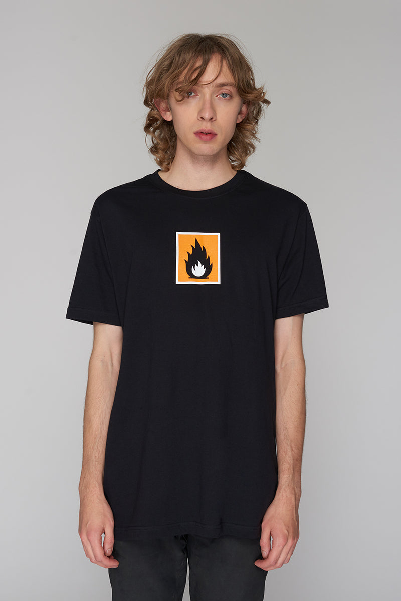 Long Clothing Highly Flammable T Black
