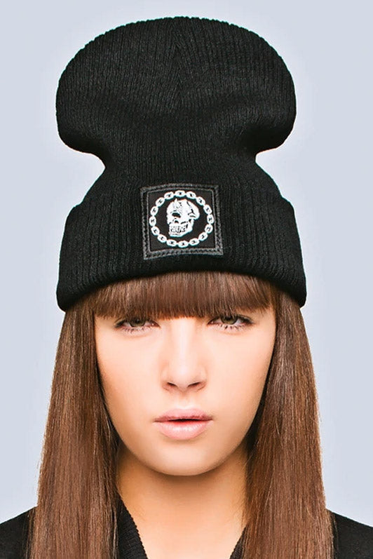 Mishka Chain Beanie - Small Patch