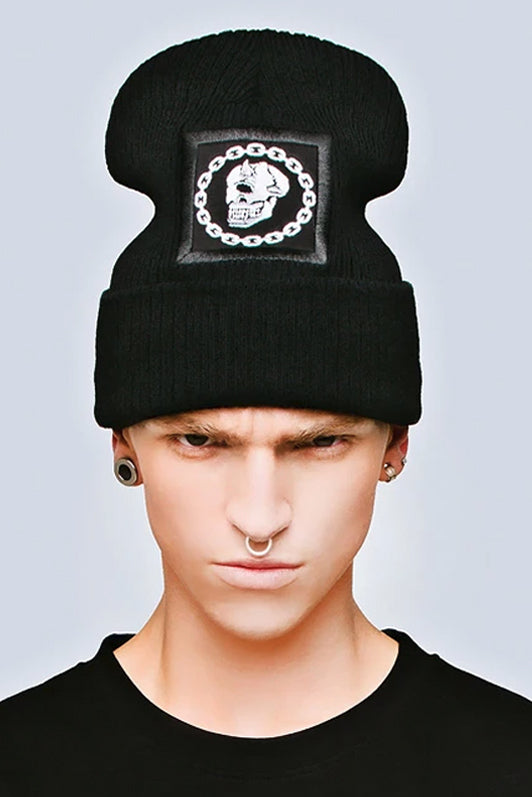Mishka Chain Beanie - Large Patch