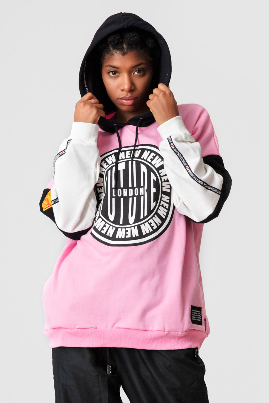Stamp Logo Hooded Sweatshirt (Pink)