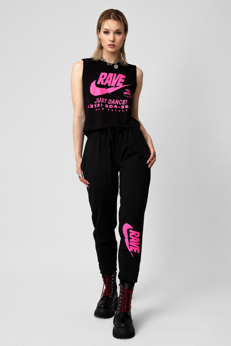 Illegal Rave (Pink) - Crop Top