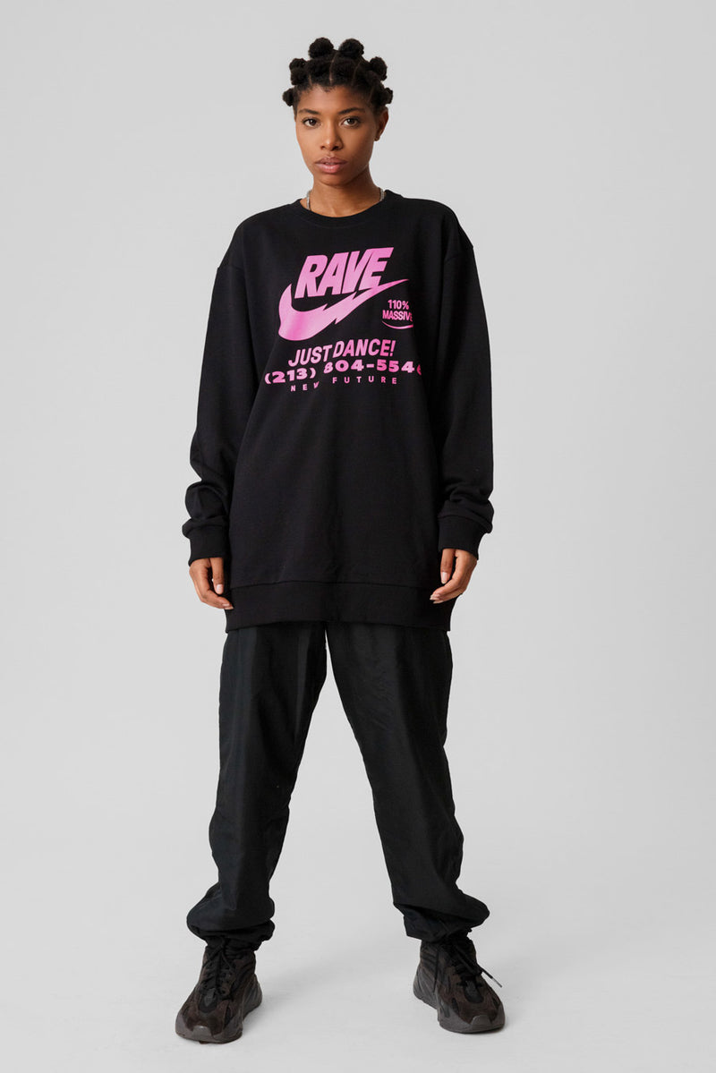 Illegal Rave (Pink) Sweatshirt