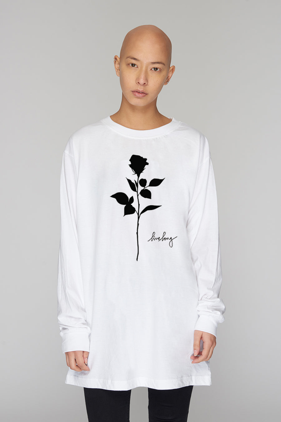 ROSE LONG SLEEVE WHITE 1