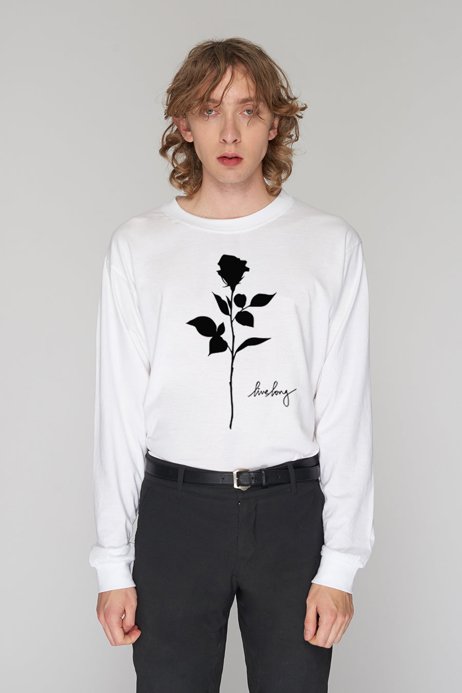 ROSE LONG SLEEVE WHITE