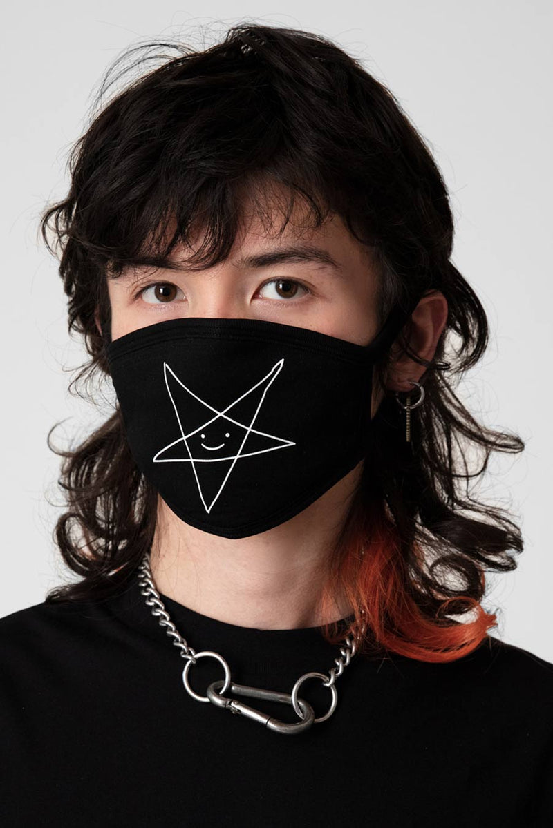 Satan Loves You Face Mask - Unisex
