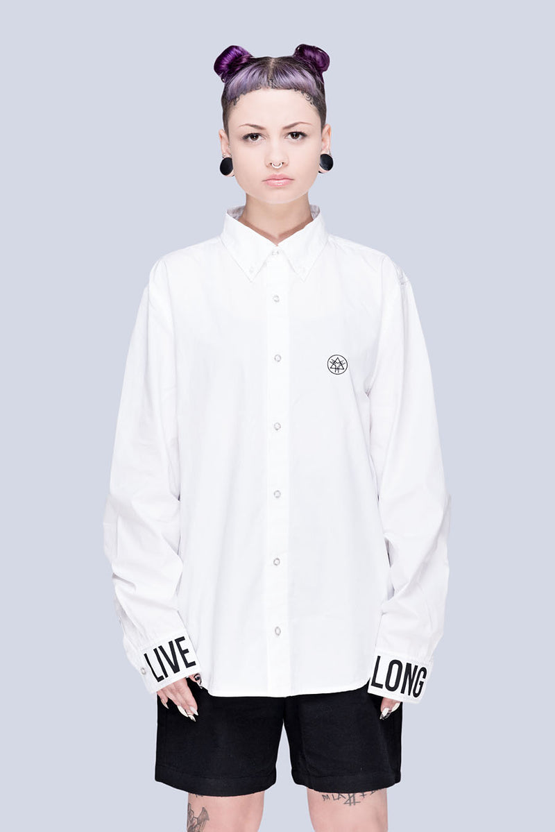 Live Long Buttoned Shirt (W) - Unisex-0