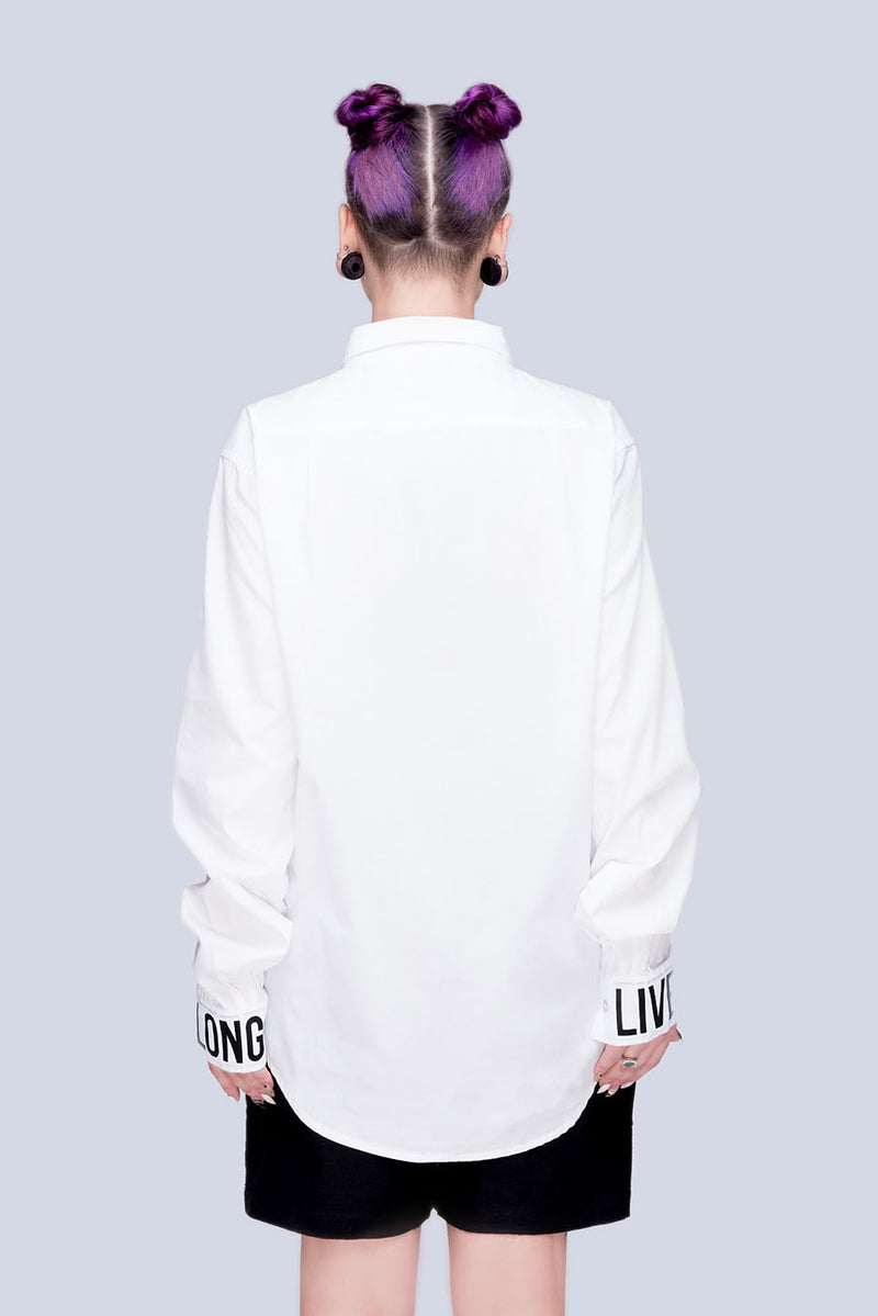 Live Long Buttoned Shirt (W) - Unisex-2781