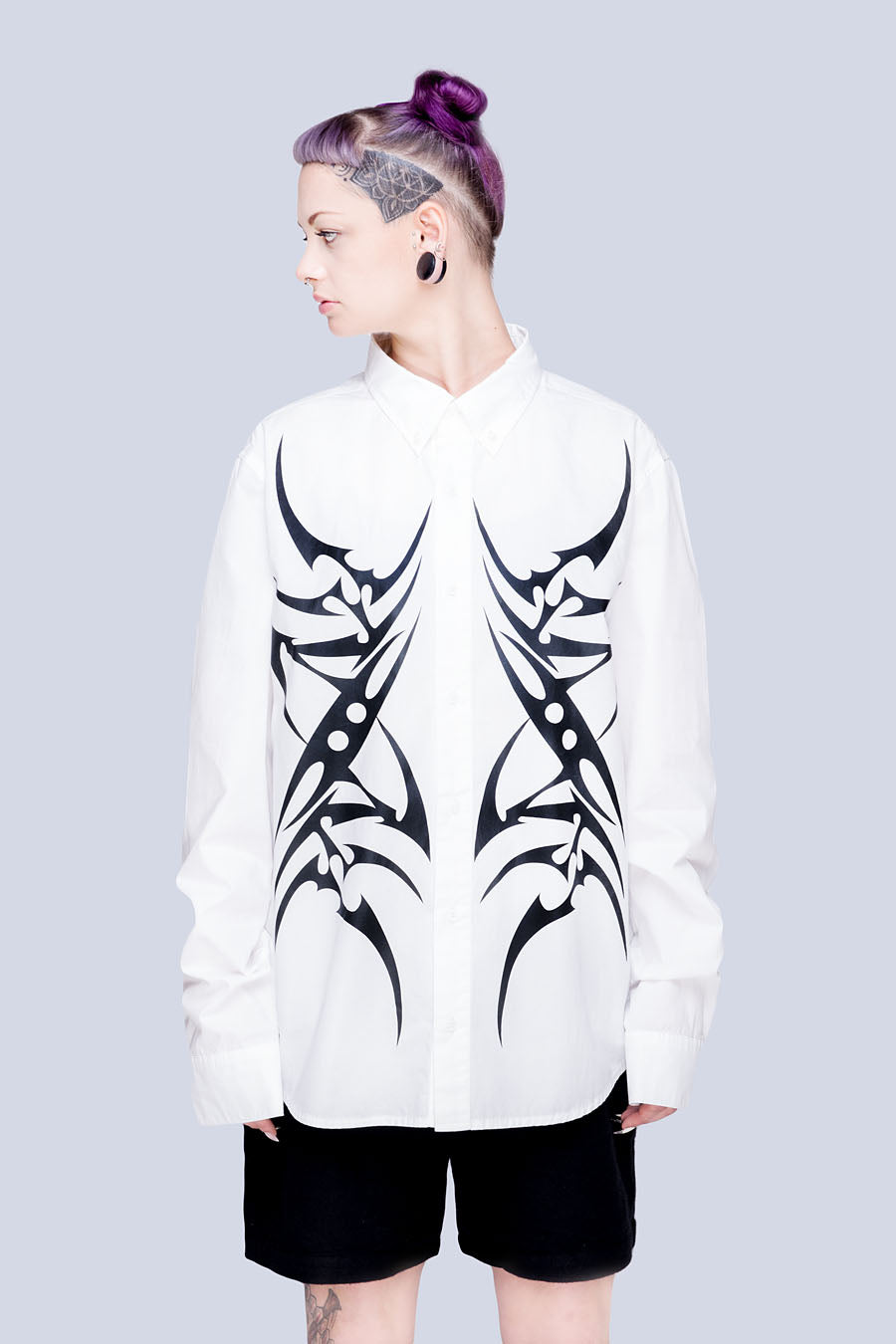 Tribal Buttoned Shirt (W) - Unisex-0