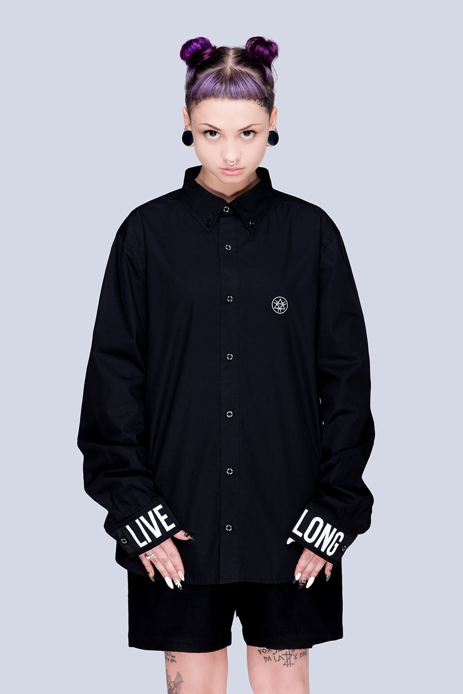 Live Long Buttoned Shirt (B) - Unisex-2777