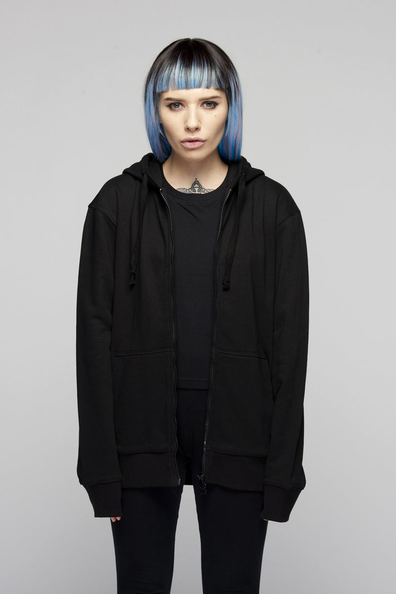 Lux Zip Up Hooded Top -4007