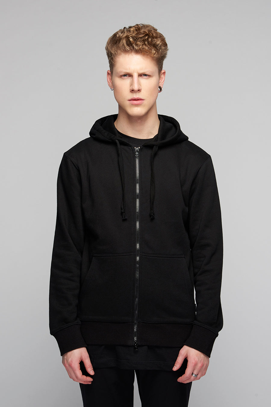 Lux Zip Up Hooded Top -0