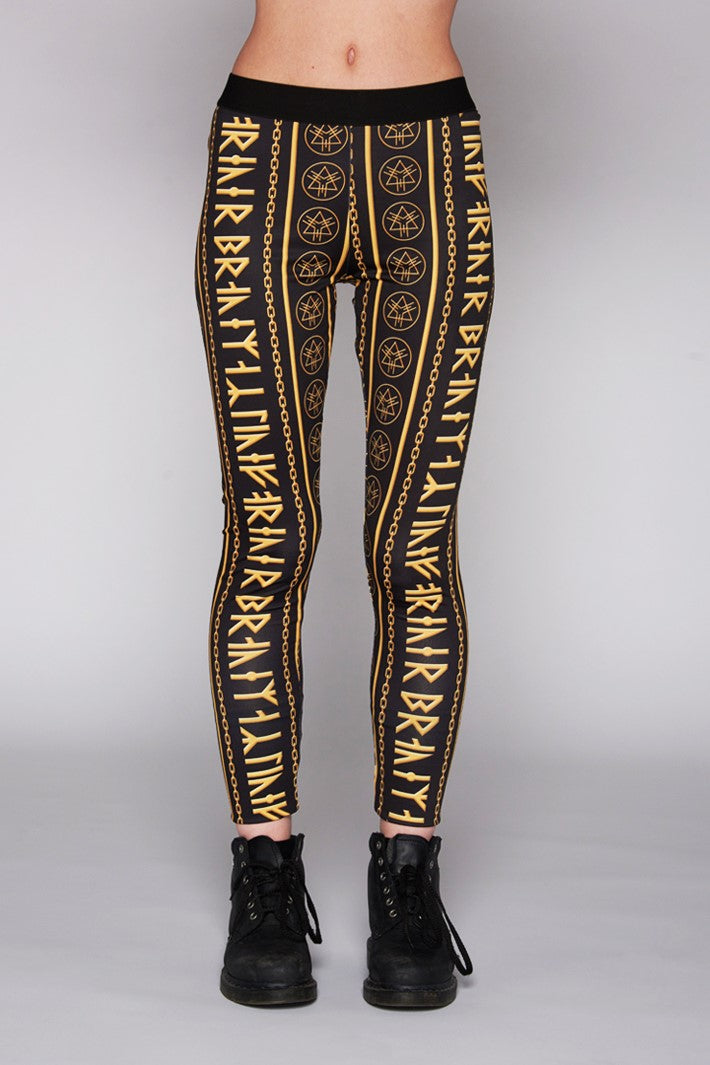 Gold Rune Leggings-0