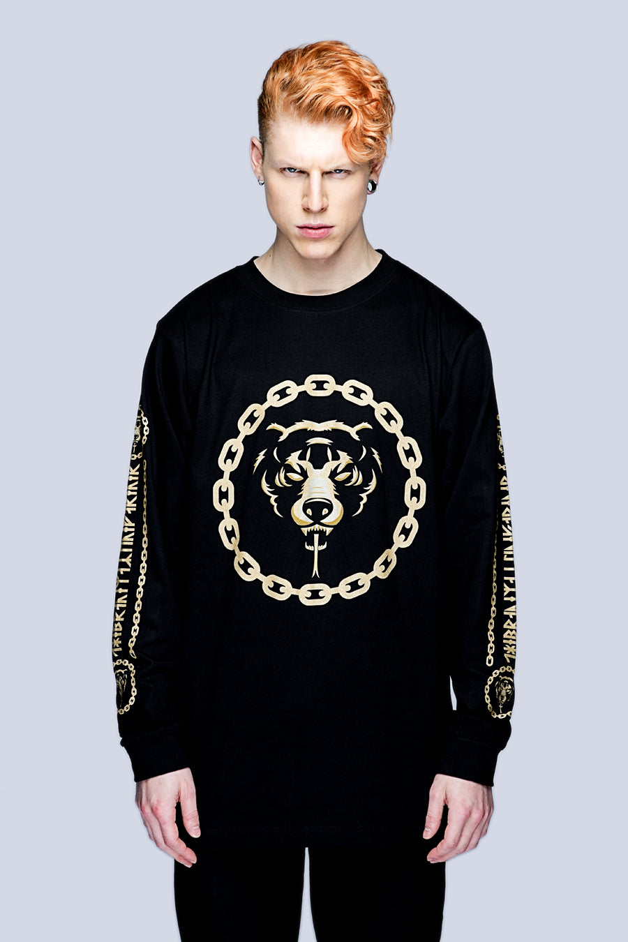 Death Adder Chain Long Sleeve Tshirt (Gold) -3439