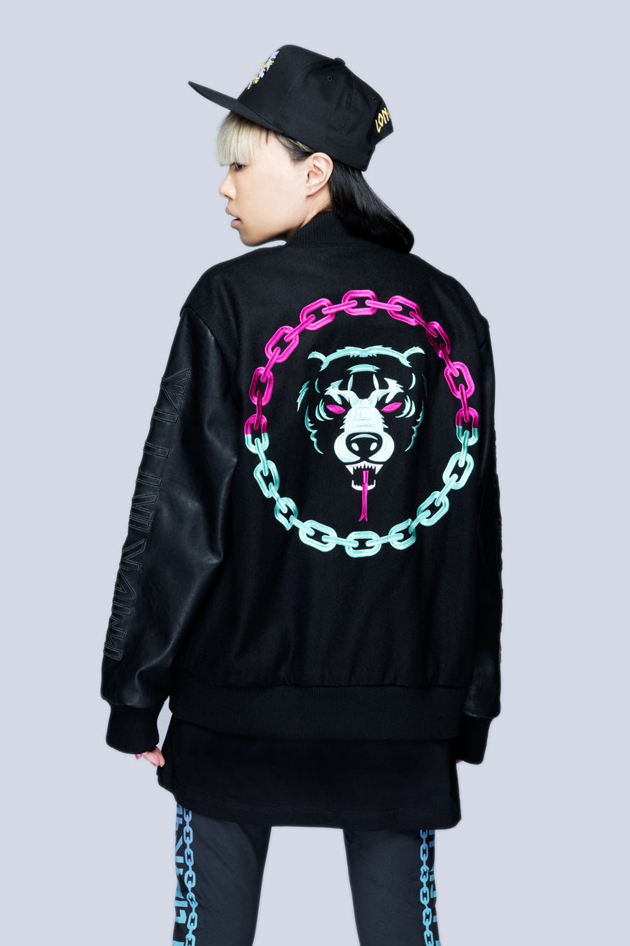 Death Adder Chain Varsity Jacket (B)-0