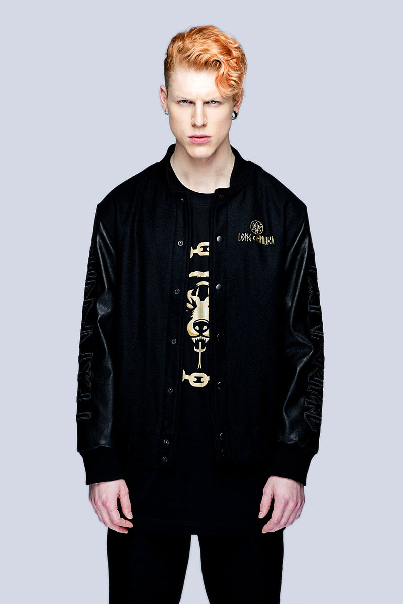 Death Adder Chain Varsity Jacket (Gold)-3379