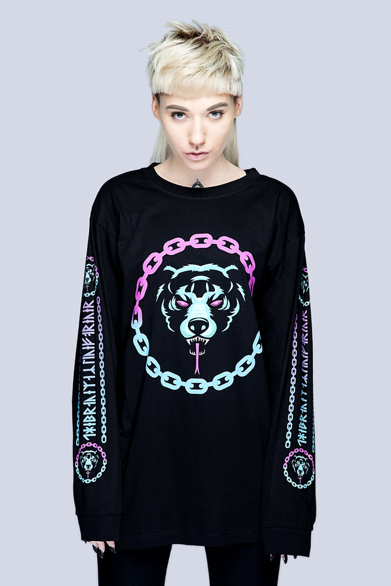Death Adder Chain Long Sleeve Tshirt (B) -0
