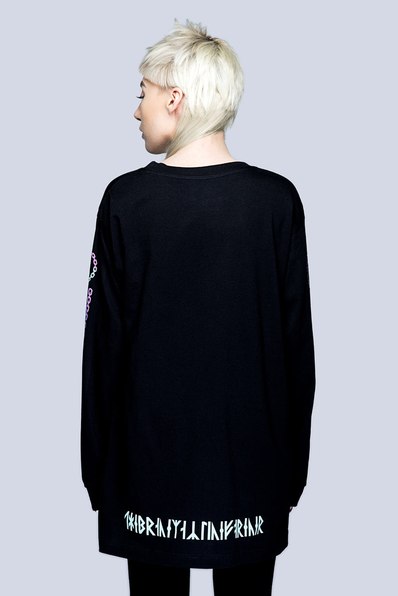 Death Adder Chain Long Sleeve Tshirt (B) -3394