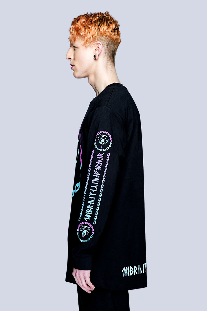 Death Adder Chain Long Sleeve Tshirt (B) -3393