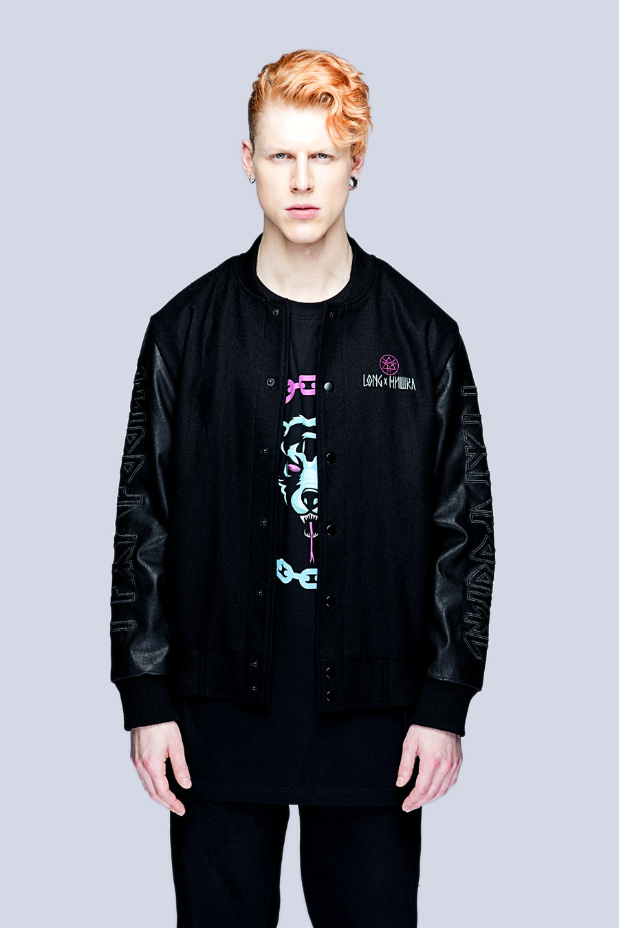 Death Adder Chain Varsity Jacket (B)-3405