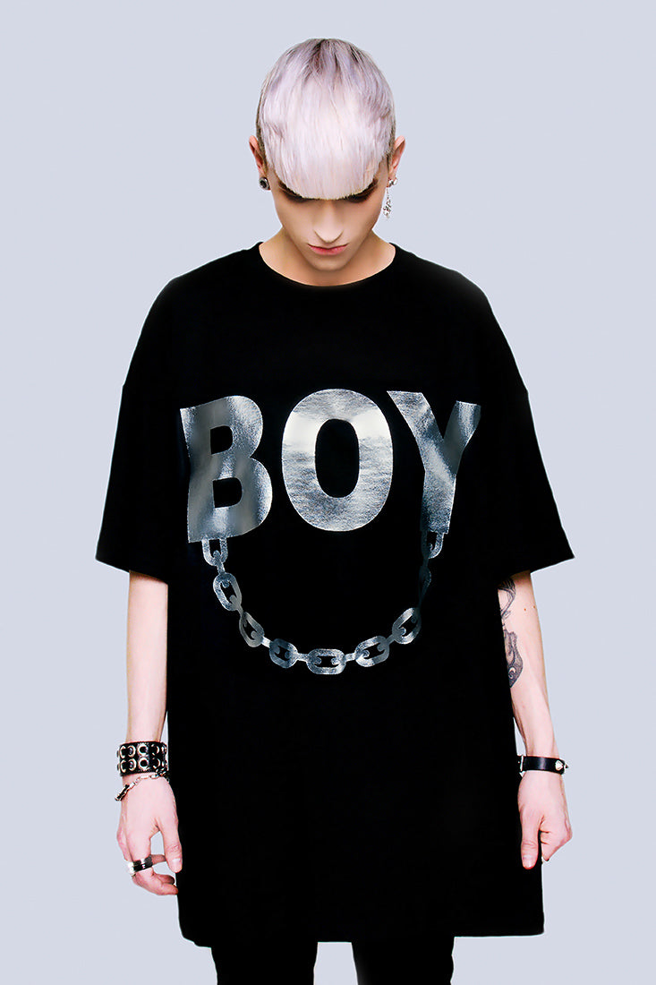Oversize - BOY Chain (Silver)-0