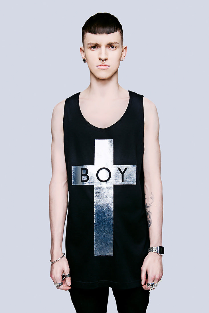 BOY Cross Vest (Silver) -0