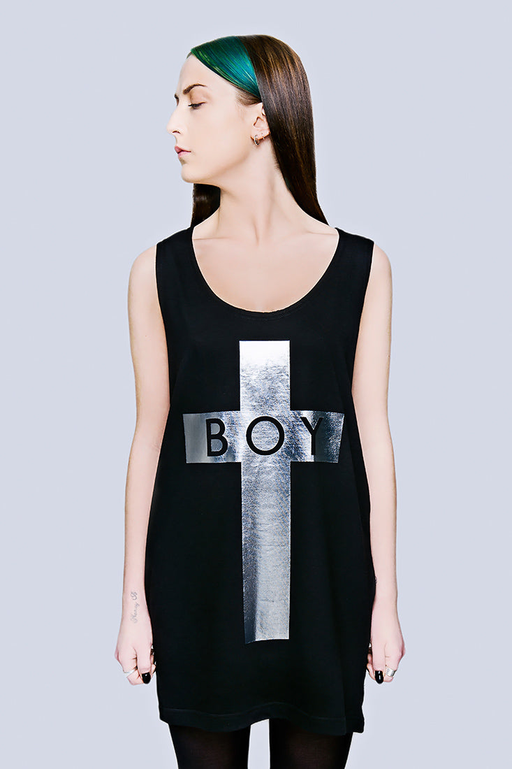 BOY Cross Vest (Silver) -1840