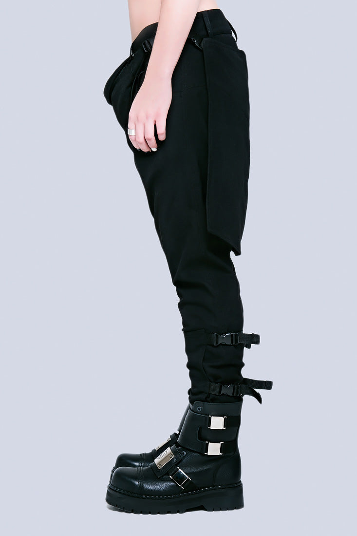 Long X Orphanage Clip Pants (Black)-0