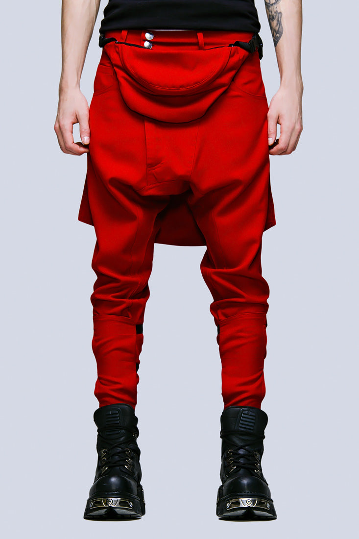 Clip Pants (Block Red)-0