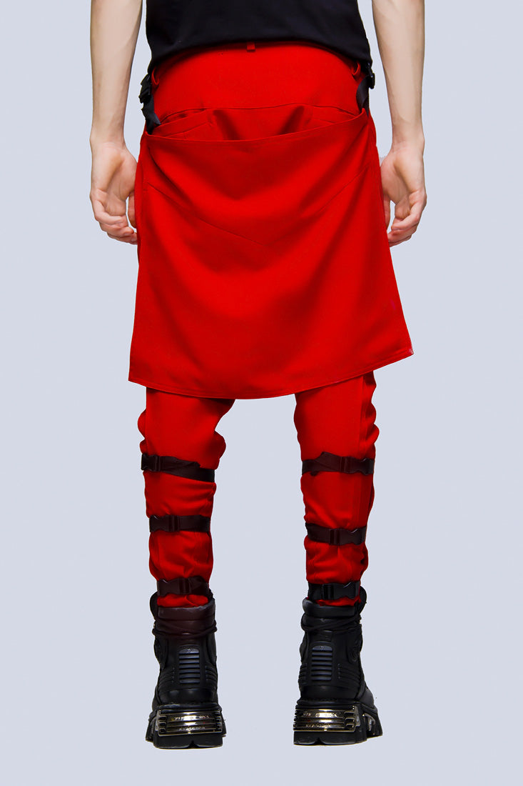 Clip Pants (Block Red)-1871