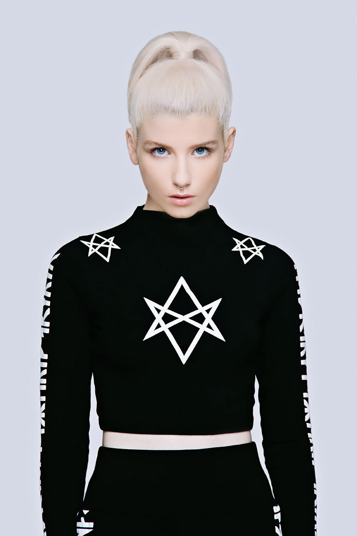 Hexagram Crop Top - Long Sleeve (B)-1942