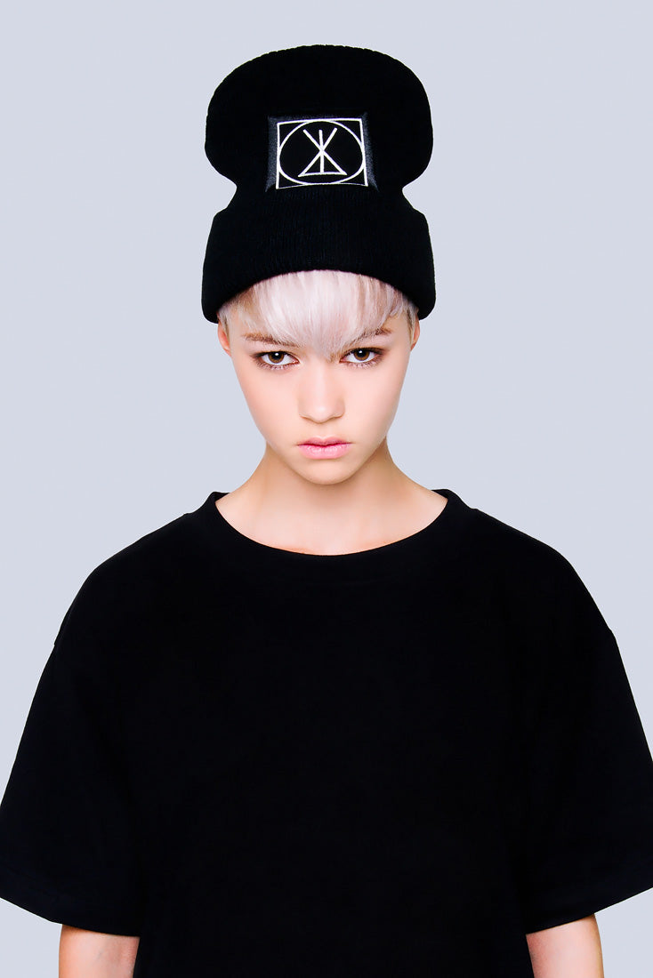 Long ICON Beanie - Large Patch -0