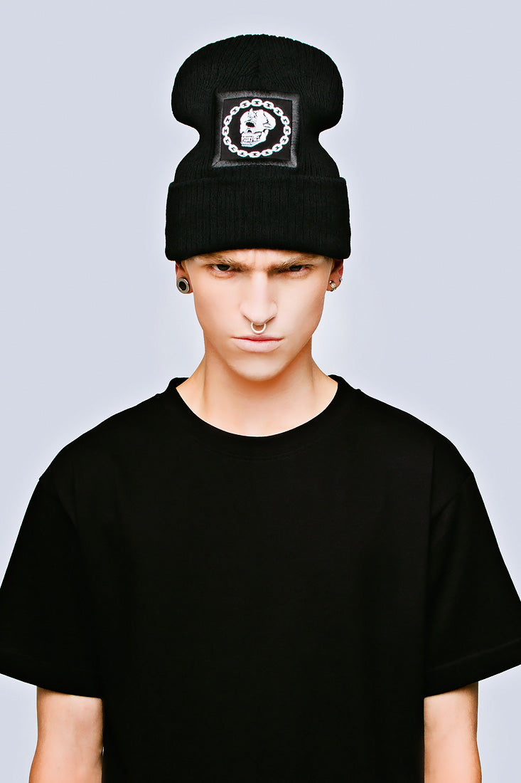 Mishka Chain Beanie - Large Patch-2024