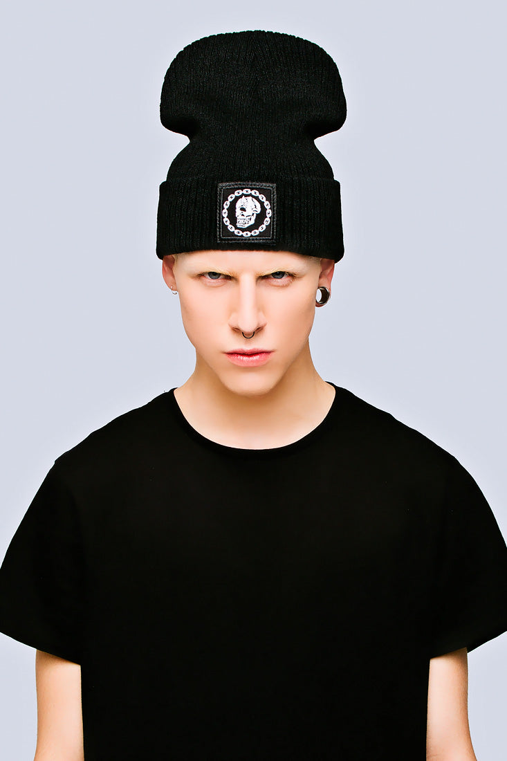 Mishka Chain Beanie - Small Patch-0