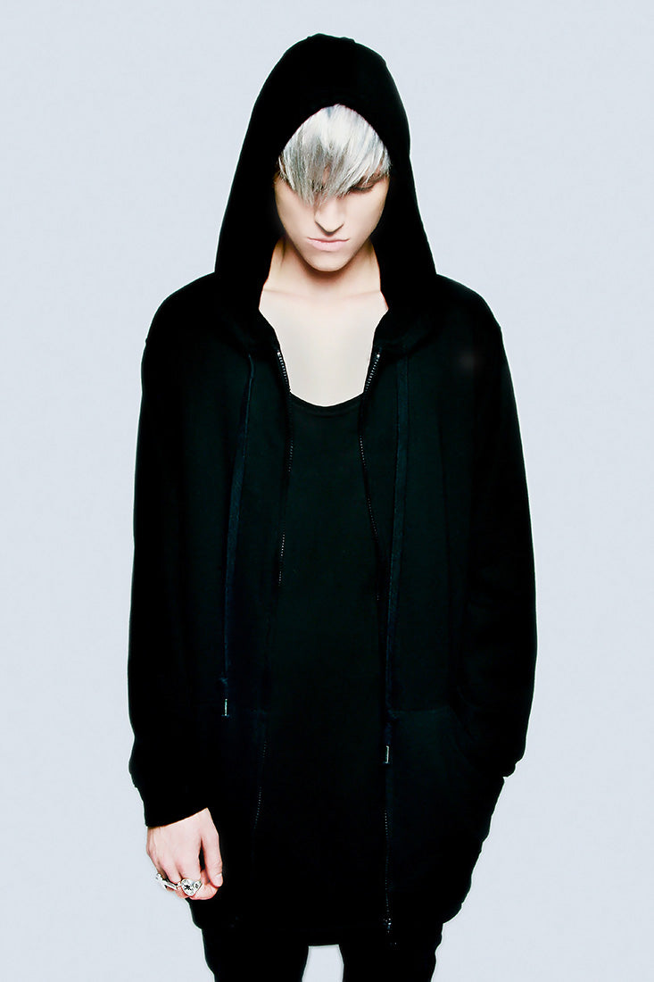 Zip Up Plain Hood -2083