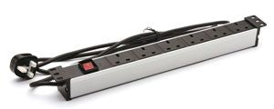 Premium Line Power Distribution Unit (PDU) 6 Outlets W/surge Protector UK Type