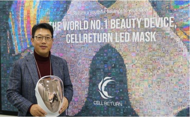 CELLRETURN eyes global expansion with LED Masks by  Kwak Yeon-soo (The Korea Times)