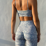 Blue SNAKE Seamless Shorts